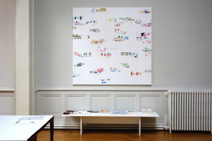 Piétons, 2015, installation  Galerie Anton Meier, Genéve.