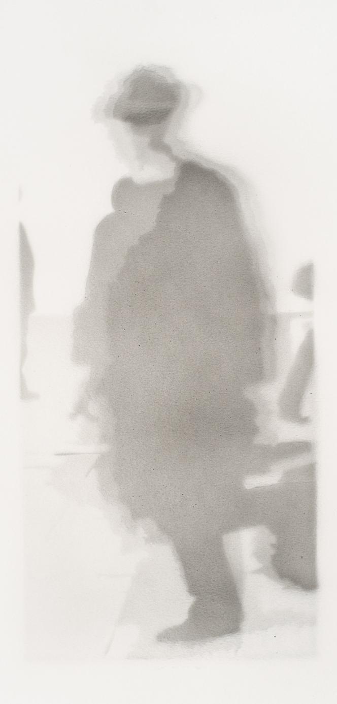 Passant 1 2016, acrylique s/papier, 48 x 23 cm