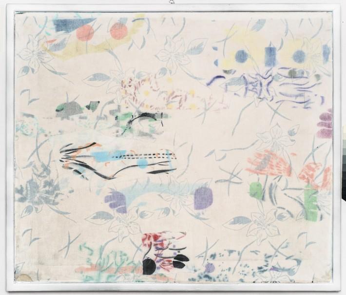Piétons 2016, email & acrylique sur toile, 60 x 70.5 cm