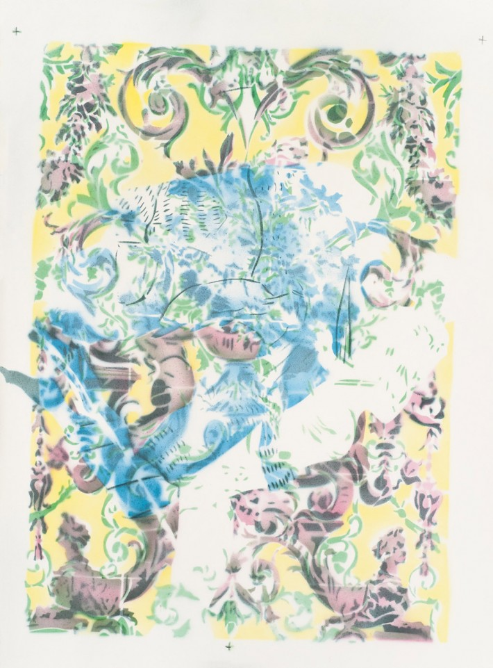 Zephyr & Jacinthe 2014, acrylique s/papier, 78 x 56 cm