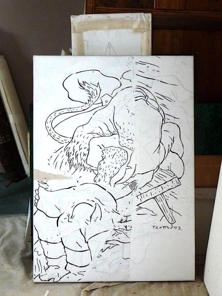 Beast 2010, acrylique s/toile, 81 x 57 cm.