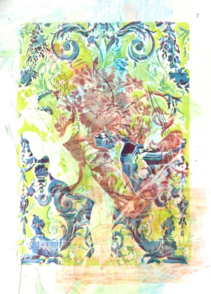 Zephyr & Jacinthe 2, acrylique s/papier 78 x 56 cm