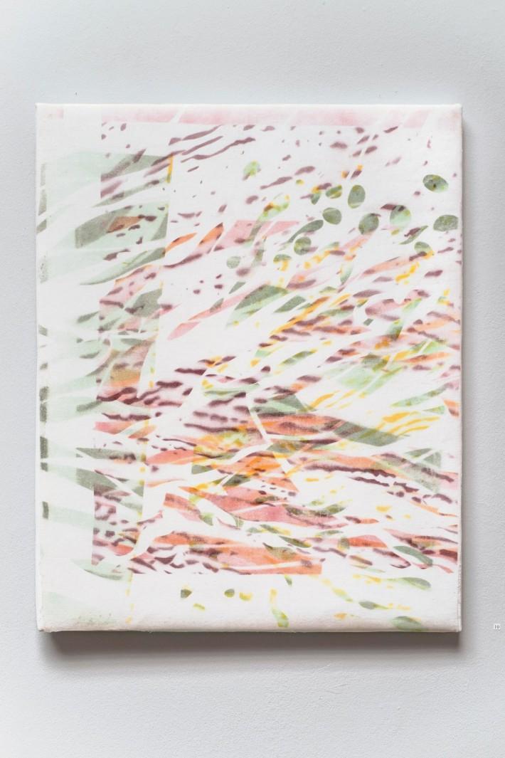 Ruisseau 4, 2016, émail sur coton,  85 x 69 cm.