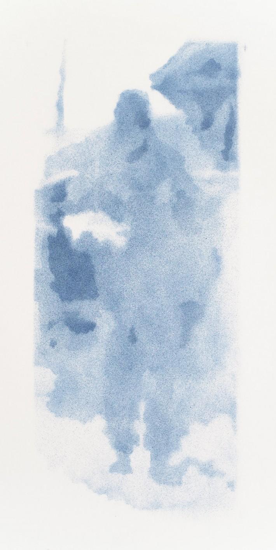 Marchand 2, 2016, email s/papier 50.5 x 22.5 cm