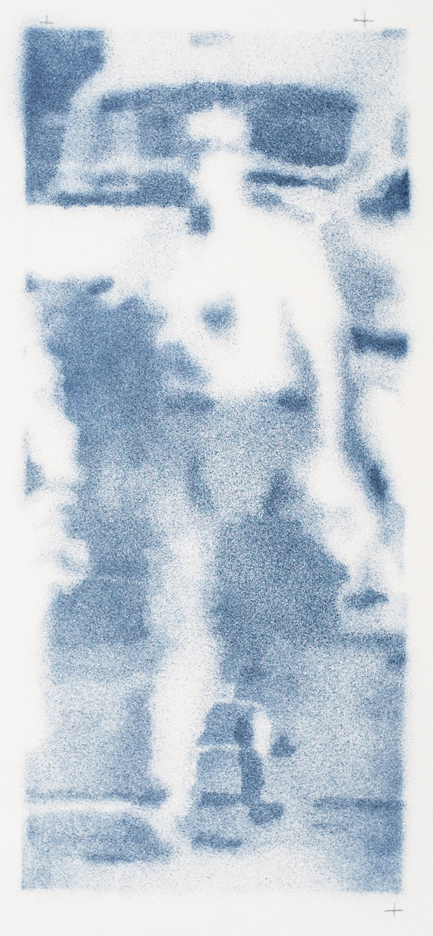 Pedestrian 1 2016, email s/papier, 47.5 x 21 cm